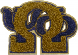 View Buying Options For The Omega Psi Phi Stack Letters Chenille Sew-On Patch