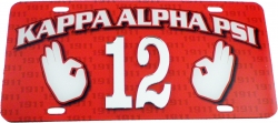 View Buying Options For The Kappa Alpha Psi Printed Graphic Raised Line #12 License Plate