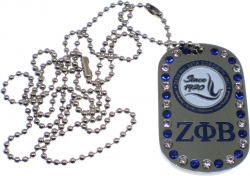 View Buying Options For The Zeta Phi Beta Dove 1920 Double Sided Crystal Dog Tag