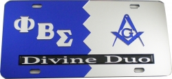 View Buying Options For The Phi Beta Sigma + Mason Divine Duo Split License Plate