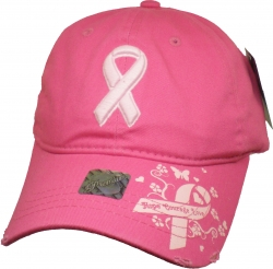 View Buying Options For The Pink Ribbon Unstructured Ladies Baseball Cap