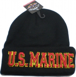 View Buying Options For The U.S. Marine Big Letter Mens Skull Cuff Beanie Cap