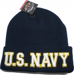 View Buying Options For The U.S. Navy Big Letter Mens Skull Cuff Beanie Cap