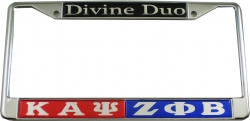 View Buying Options For The Kappa Alpha Psi + Zeta Phi Beta Divine Duo Split License Plate Frame