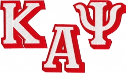 View Buying Options For The Kappa Alpha Psi Satin Tackle Twill Letter Set