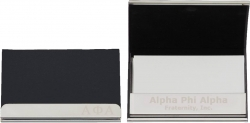View Buying Options For The Alpha Phi Alpha Laser Engraved Business Card Holder with Leather