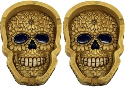 View Buying Options For The Carved Bone Skull Face Ashtray Set [Pre-Pack]