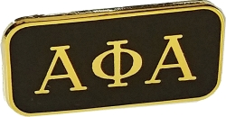 View Buying Options For The Alpha Phi Alpha 3 Letter Rectangular Lapel Pin