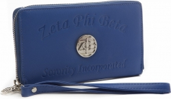 View Buying Options For The Zeta Phi Beta Ladies Embossed Soft Leather Wallet