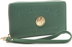View Buying Options For The Alpha Kappa Alpha Ladies Embossed Soft Leather Wallet