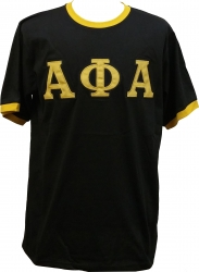 View Buying Options For The Alpha Phi Alpha Applique Ringer Mens Tee