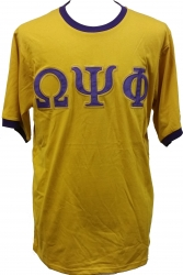 View Buying Options For The Omega Psi Phi Applique Ringer Mens Tee
