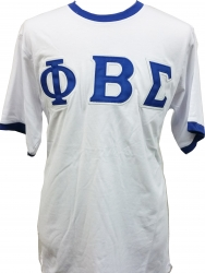 View Buying Options For The Phi Beta Sigma Applique Ringer Mens Tee