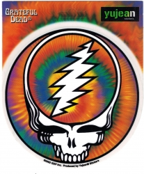 View Buying Options For The Greatful Deadhead Skull Color Sticker