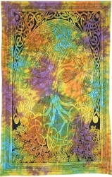 View Buying Options For The Celtic Tree of Life Twin Size Tapestry