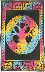 View Buying Options For The Mandala Tree of Life Twin Size Tapestry