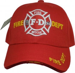 View Buying Options For The Fire Dept Fire Rescue Logo Sandwich Bill Mens Cap
