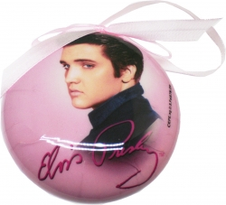 View Buying Options For The Elvis Presley Pink Foil Christmas Tree Ornament