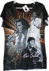 View Buying Options For The Elvis Presley Sublimation Print Ladies T-Shirt