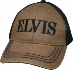 View Buying Options For The Elvis Presley Snow Washed Air Mesh Back Mens Cap