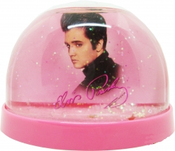 View Buying Options For The Elvis Presley Pink Foil Snow Globe