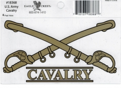 View Buying Options For The U.S. Army Cavalry Crossed Swords Outside Car Decal Sticker [Pre-Pack]