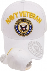 View Buying Options For The Navy Veteran Emblem Shadow On Bill Mens Cap