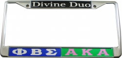 View Buying Options For The Phi Beta Sigma + Alpha Kappa Alpha Divine Duo Split License Plate Frame