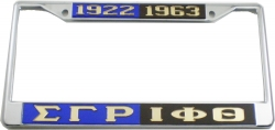 View Buying Options For The Sigma Gamma Rho + Iota Phi Theta Split License Plate Frame