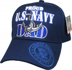 View Buying Options For The Proud U.S. Navy Dad Anchor Mens Cap