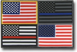 View Buying Options For The RapDom USA Flag Tactical Mini Rubber H&L Velcro-Back Patch Set [Pre-Pack]
