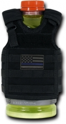 View Buying Options For The RapDom Thin Blue Line Logo Deluxe Tactical Mini Vest Bottle Koozie