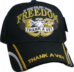 View Buying Options For The Thank A Vet Mesh Stripe Bill Mens Cap