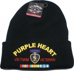 View Buying Options For The Purple Heart Vietnam Veteran Red Letter Mens Cuff Beanie Skull Cap