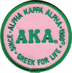 View Buying Options For The Alpha Kappa Alpha Greek for Life Round Iron-On Patch