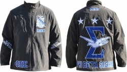 View Buying Options For The Phi Beta Sigma Divine 9 S4 Mens Windbreaker Jacket