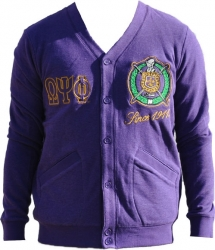 View Buying Options For The Omega Psi Phi Divine 9 Mens Cardigan