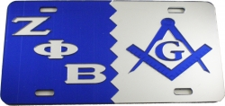 View Buying Options For The Zeta Phi Beta + Mason Split Mirror License Plate