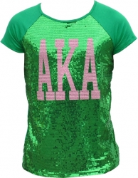 View Buying Options For The Alpha Kappa Alpha Divine 9 Sequins Tee