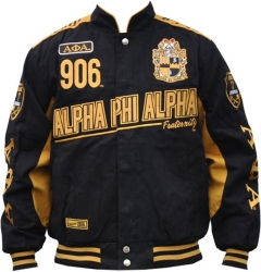View Buying Options For The Alpha Phi Alpha Divine 9 S9 Mens Twill Racing Jacket