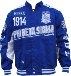 View Buying Options For The Phi Beta Sigma Divine 9 S9 Mens Twill Racing Jacket