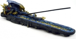 View Buying Options For The Blue Dragon Guarding Gems Incense Burner
