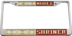 View Buying Options For The Daughters of Isis + Shriner Noble Split License Plate Frame