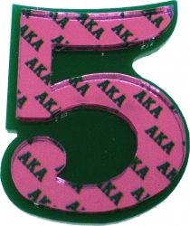 View Buying Options For The Alpha Kappa Alpha Acrylic Line #5 Mirror Lapel Pin
