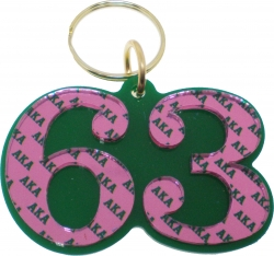 View Buying Options For The Alpha Kappa Alpha Color Mirror Line #63 Keychain
