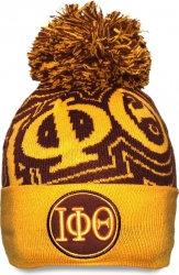 View Buying Options For The Iota Phi Theta Divine 9 S9 Mens Cuff Beanie Cap with Ball