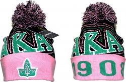 View Buying Options For The Alpha Kappa Alpha Divine 9 S9 Ladies Cuff Beanie Cap with Ball
