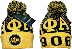 View Buying Options For The Alpha Phi Alpha Divine 9 S9 Mens Cuff Beanie Cap with Ball