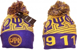 View Buying Options For The Omega Psi Phi Divine 9 S9 Mens Cuff Beanie Cap with Ball