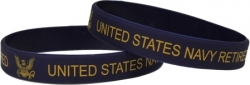 View Buying Options For The United States Navy Retired Silicone Wristband [Pre-Pack]
